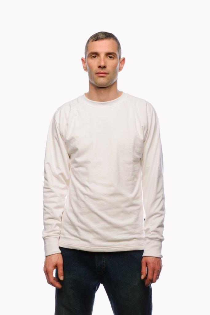 anti slash white long sleeve t shirt lined with dupont. Black Bedroom Furniture Sets. Home Design Ideas