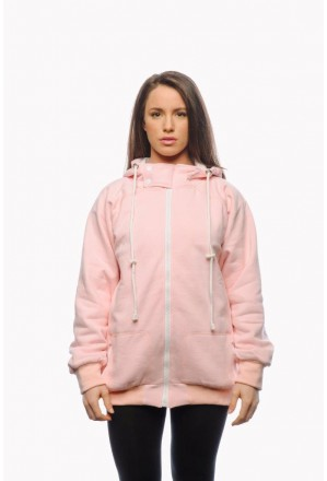 Ladies pink covert hooded top lined with Aramid fibre