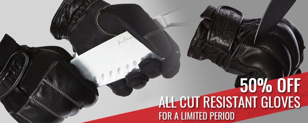 Leather Anti-Slash Gloves