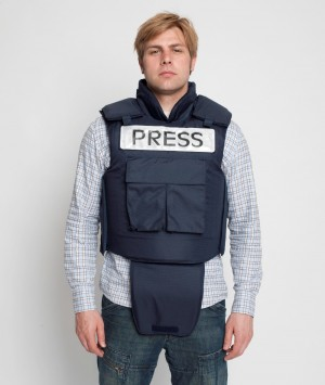 Bullet Proof Press Jacket with Neck & Groin Protection