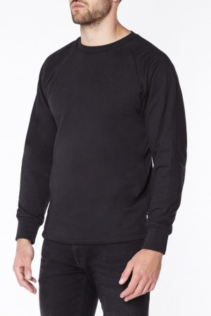 Black Long Sleeve Anti-Slash T-Shirt | Long Sleeve Cut Resistant Kevlar T-Shirt in Black
