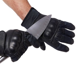 Coyote Gloves With Knuckle Protection - Black - Cut Resistance Level 5
