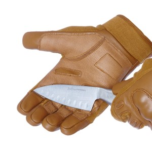 Coyote Gloves With Knuckle Protection - Cut Resistance Level 5