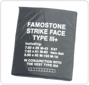 Famostone Bullet Proof Plate - Level III+ Protection