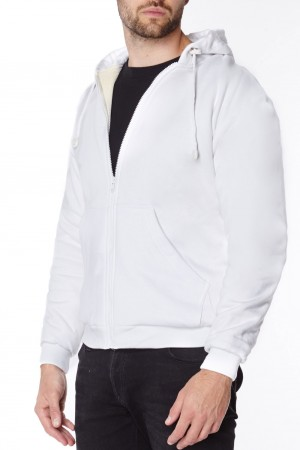 White Anti-slash Hooded top with Dupont™ Kevlar® Fibre
