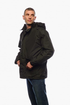 Black Weatherproof Disguised Bullet/Stab-proof Jacket