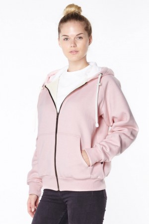 Pink anti-slash hooded top lined with Dupont ™ Kevlar ® fibre