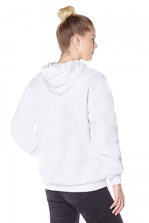 Womens white anti-slash hooded top lined with Dupont ™ Kevlar ® fibre