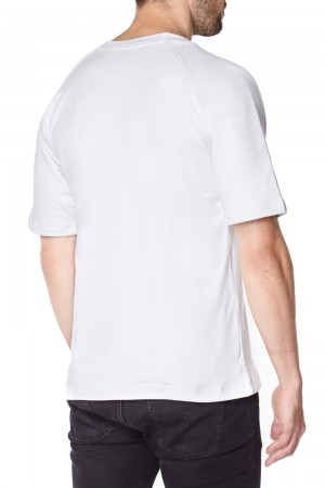 Anti-slash White Short Sleeve T-Shirt lined with Dupont ™ Kevlar ® fibre