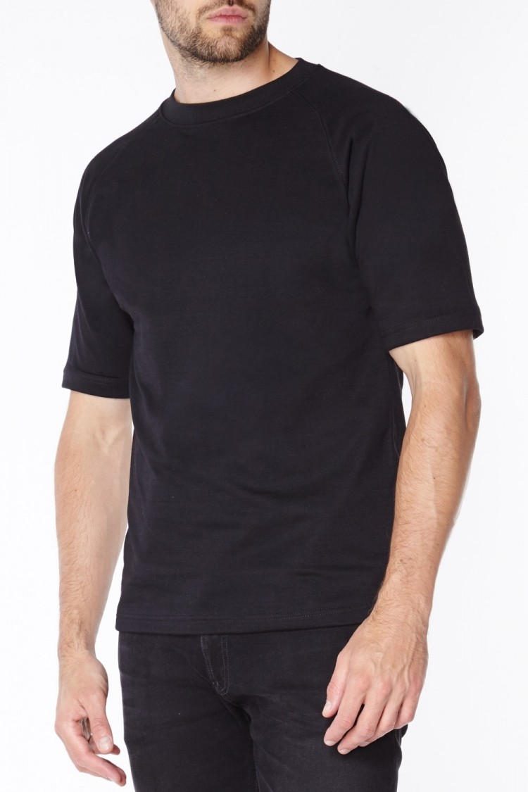 Black Anti-Slash T-Shirt | Short Sleeve Kevlar T-Shirt in Black