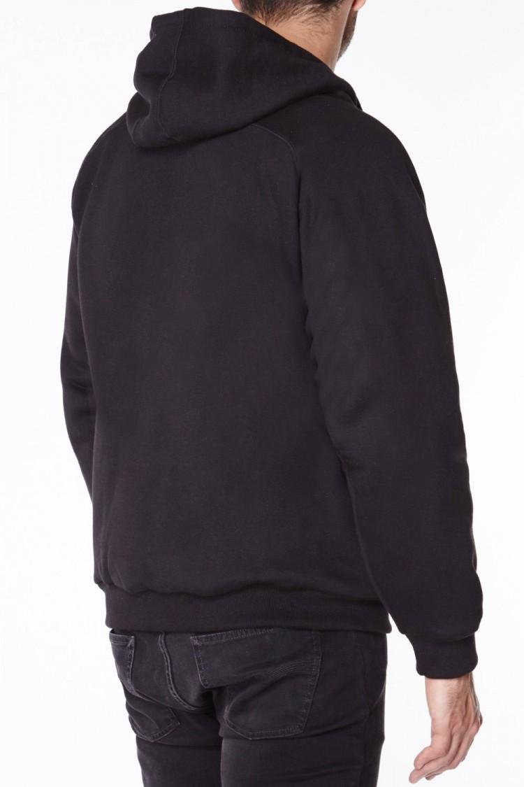 Black anti-slash hooded top lined with Dupont ™ Kevlar ® fibre