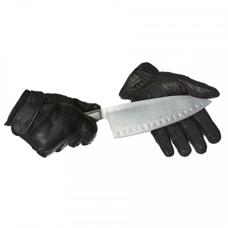 New Style Leather / Neoprene Gloves without knuckle protection - Cut Resistance Level 2