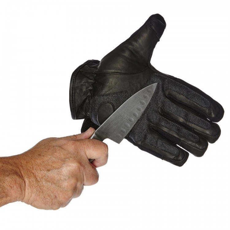 Cut Proof Leather Gloves with Knuckle Protection