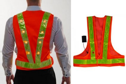 Keeping cyclists safe with our LED Hi-Vis Safety vest