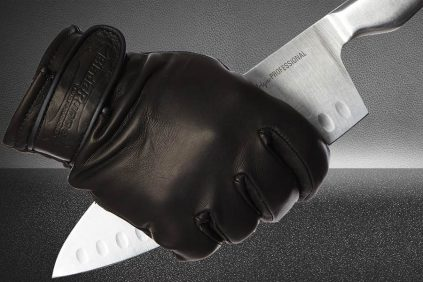 What are cut resistant gloves made from?