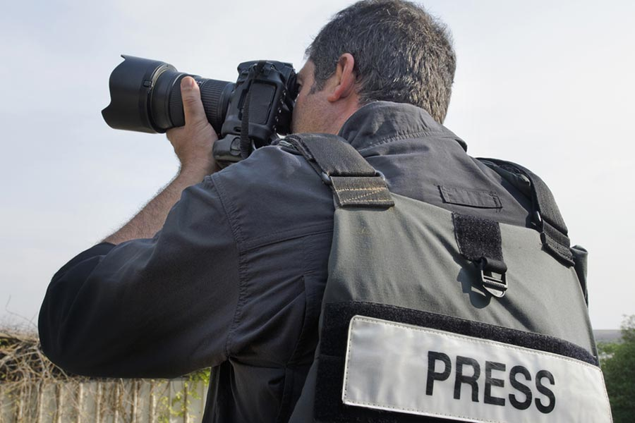 Protective clothing for press
